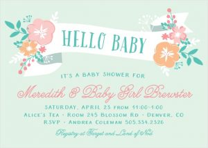 hello baby shower invitations l 300x214 - Invitation cards: From baby woodland theme to gender neutral, Bring your party to life.